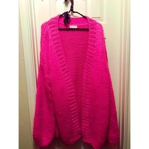 Anthropologie oversized knit sweater